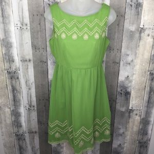 FLYING TOMATO green embroidered dress